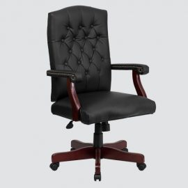 real leather executive office chair