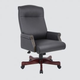 the best leather high back office chair is fully customizable with numerous adjustments