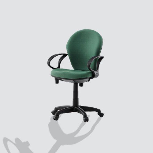 Comfortable ergonomics chair designed with lumbar support, contoured cushions