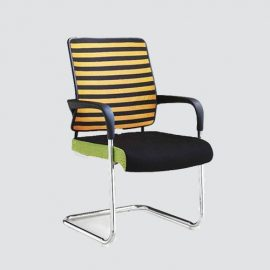 This chair is designed to keep guest comfortable with the thick, padded seat and fixed arm rest