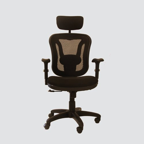 Executive chair-001 high back revolving chair with adjustable headrest and push back