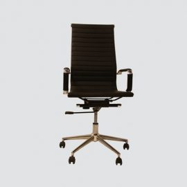 This Executive chair-004 is perfect for modern conference room. This designer chair offers clean lines and a comfortable sit.