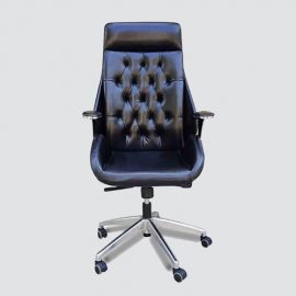 leather executive chair with elegant designed for reduces chronic back, hip and leg strain