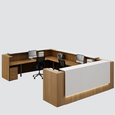 Update Your Spaces with focus interiors Furniture. This fashionable reception counter in clean contemporary structure incorporates every one of the pieces outlined in the picture for a multi-useful, reasonable, effective contemporary Reception Counter.