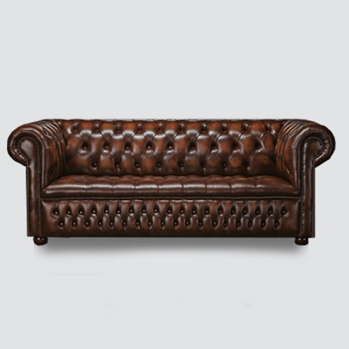 This couch is upholstered with top quality and durable rexine that is hard-wearing and easy to clean and the well constructed with sturdy feet that give long lasting durability.