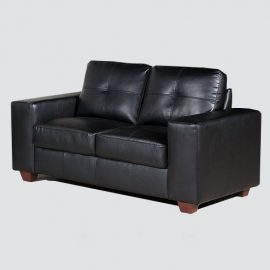 Impress your customers with this modern style sofa. The black silhouette of this sofa, softened by hand tufting on the back pillows, will look sharp in your office waiting area.