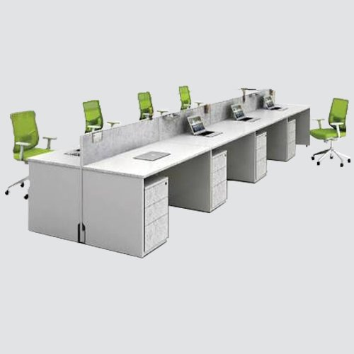 straight workstation made of lamination of approved color with matching pvc edging