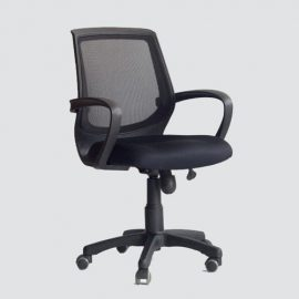 Breathable Mesh Back with Padded Mesh Seat