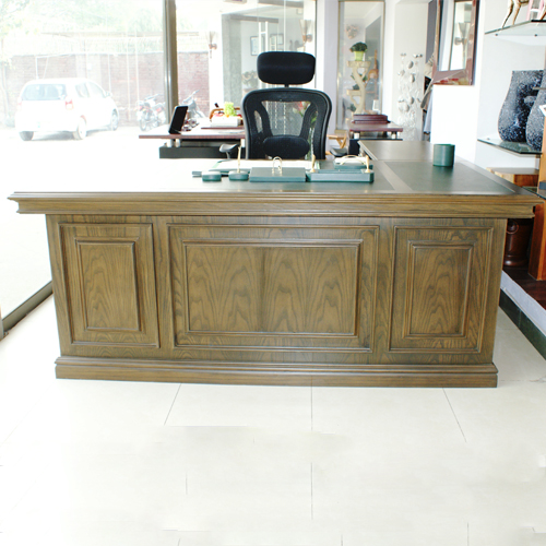Table with side rack made up of strong Sheesham wood/Ashwood, facade and utilize leatherite boards on top with polish finish .