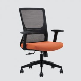 Our desk chair using high-density sponge cushion, more flexible, office chair with a middle back design, can provide good Lumbar Support.