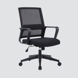 computer chair gives a definitive solace to extended periods of time before a work area . Height adjustable, freely rotating and and using amazing polyester material.